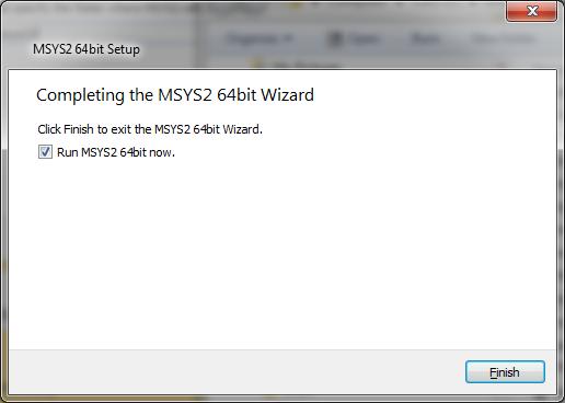 Installing MSYS2 - Full